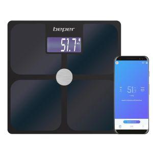 Ηλεκτρονική ζυγαριά βιοηλεκτρικής αντίστασης με App και 21 ενδείξεις κατάστασης σώματος Beper
