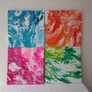 4 εποχες, πινακες ζωγραφικης δικη μου δημιουργια. 25/25εκ μεγεθος ο καθενας. Αυθεντικοι(δικο μου δημιουργημα. Ακρυλικα χρωματα, σε τελαρα, περασμενοι με βερνικι.