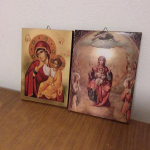 Εικόνες ξύλινες σε άριστη κατάσταση. 20 ×15 εκ.10 ευρω η καθε μια.Αθηνα.Ανω Πατησια