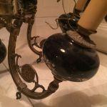 Vintage bronze με πορσελανη ζωγραφισμενη 6 φωτος πολυελαιος,πολυ βαρυ κομματι πληρως λειτουργικος κ σε πολυ καλη κατασταση