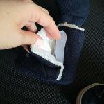 Παιδικά παπούτσια μπλε με γούνα αφόρετα νούμερο 21 και δώρο τα παντοφλάκια