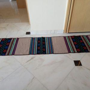 Κιλίμι ολόμαλλο διάδρομος, χειροποίητο, διπλής όψης, 2,25χ0,49 του μέτρου. Καθαρισμένο έτοιμο για χρήση