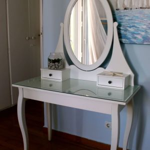 Τουαλέτα/μπουντουάρ (με καθρέφτη) HEMNES έπιπλο λευκό από μασίξ ξύλο IKEA