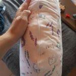 Μαξιλάρι θηλασμού με αφαιρούμενο κάλυμμα