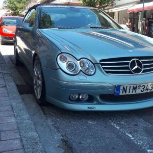 Mercedes clk 200 w209 look Brabus Cabrio.Ζάντες BBS