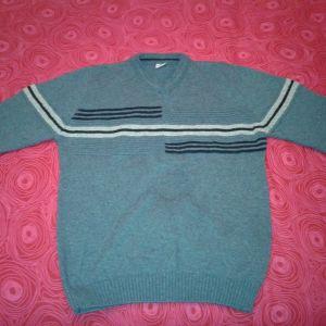 Μακρυμάνικο μπλε πουλόβερ, χοντρής πλέξης, μάρκας Bella Well.