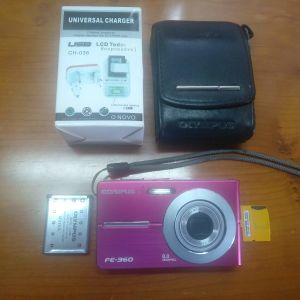 ΨΗΦΙΑΚΗ ΦΩΤΟΓΡΑΦΙΚΗ ΜΗΧΑΝΗ OLYMPUS FE-360 8MP+16GB MEMORY
