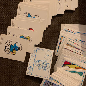 Στρουμφάκια 1996 Σετ 180 αυτοκόλλητα + σετ 30 κάρτες.