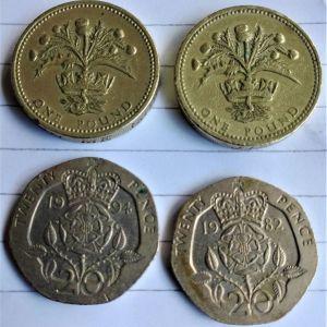 Νομίσματα Βρετανίας (4 κέρματα)