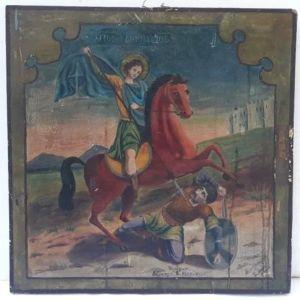 Εικόνα του Αγίου Δημητρίου Ζωγραφισμένη στο χέρι 1900