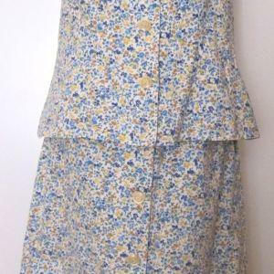 Σετ φούστα και αμάνικο τοπ από βαμβακερό ύφασμα