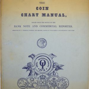 The coin chart manual - Bank note and comercial reporter - 1974