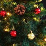 vidaXL Χριστουγεννιάτικο Δέντρο Στολισμένο Μπάλες/LED Πράσινο 150 εκ.- 246392