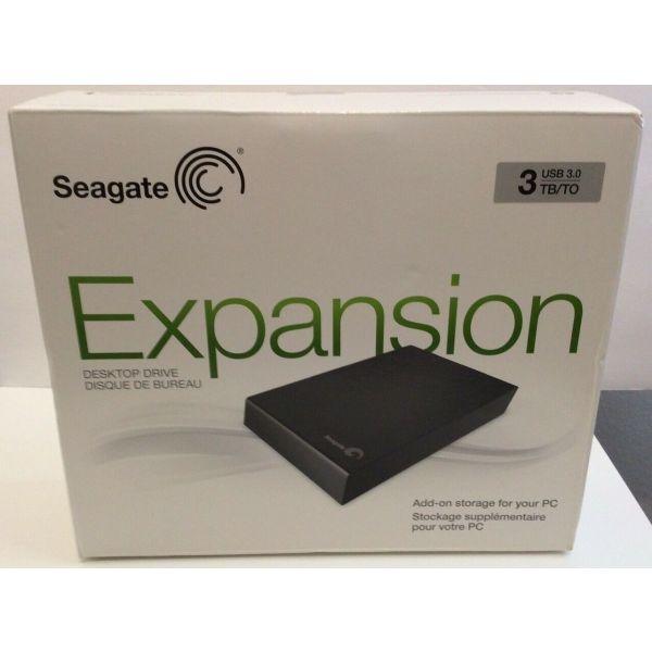 "exoterikos skliros diskos SEAGATE STBV3000200 EXPANSION DESKTOP EXTERNAL DRIVE 3.5"" 3TB USB3.0 BLACK"