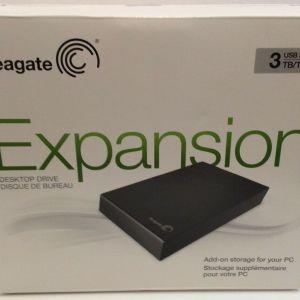 """Εξωτερικός σκληρός δίσκος SEAGATE STBV3000200 EXPANSION DESKTOP EXTERNAL DRIVE 3.5"""" 3TB USB3.0 BLACK"""