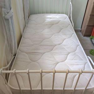 Παιδικό κρεβάτι ikea με ανατομικό στρώμα Linea Strom