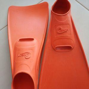 Βατραχοπέδιλα Ocean Καουτσούκ Πορτοκαλί Νο 34-35 για κολυμβητήριο