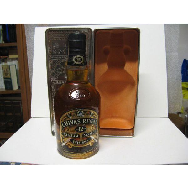 Chivas Regal Premium Scotch Whisky-aged 12 years, dekaetia '90, 700ml sfragismeno, metalliko sillektiko kouti