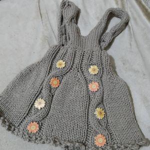 παιδικό πλεκτο φόρεμα Χειροποίητο