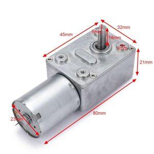 12V 0.6 RPM Geared DC Motor - High torque Shaft