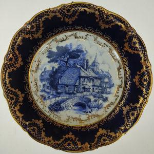 Παλιό διακοσμητικό πορσελάνινο πιάτο Limoges (Α512)