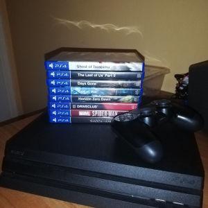 PS4 PRO 1TB + 8 GAMES