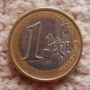1 ευρώ κοπής 2002 με το γράμμα S