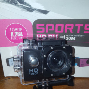 """Action Camera Go Pro Sport Camera 1080p Video Hd Dv 1.5"""" Lcd Screen Water Resistant 30m"""