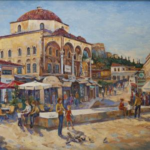 Γνήσιος πίνακας ζωγραφικής με θέμα το Μοναστηράκι