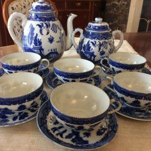 Κινέζικο σετ τσαγιού από Διάφανη Πορσελάνη - Blue Willow