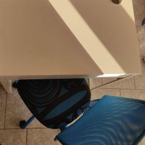 Παιδικό γραφείο ΙΚΕΑ λευκό με καρέκλα