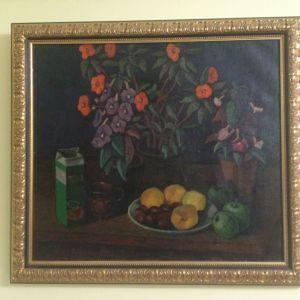 Πίνακας  Ρώσου  Ζωγράφου  (Β.  Σεπέριν). ( 80 χ   88cm)