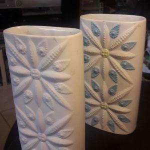 Ζευγάρι Vintage βάζων από υψηλής ποιότητας πορσελάνη