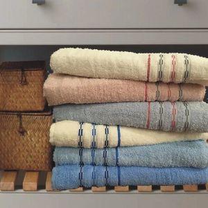 Πετσέτα ριγέ gilette 100% βαμβακερή