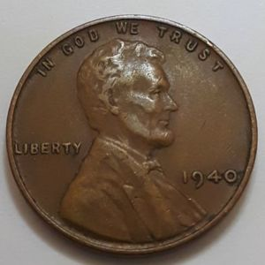 1940 Wheat LINCOLN CENT USA / Αμερική 1 Σεντ 1940