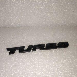 Διακοσμητικο Αυτοκολλητο Μεταλλικο Αυτοκινητου Turbo