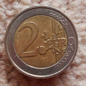 2 ευρώ του 2002,  με το S