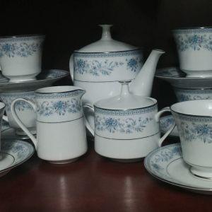 """Σερβίτσιο τσαγιού Noritake """"Blue Hill"""" 1973-1996"""