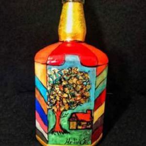 Τέχνη βιτρώ στο μπουκάλι