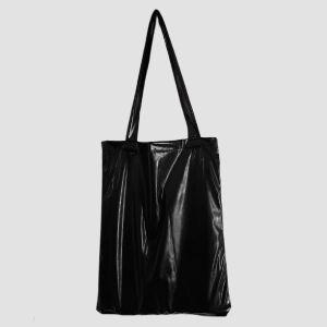 Χειροποίητη τσάντα - tote bag μαύρη vinyl καινούρια!