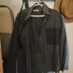 Σκούρο μπλε πουκάμισο unisex