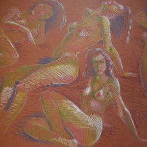 4 μοντελα 13 ποζες 10 σχεδια . ζωγραφος αντωνης στεφανακος