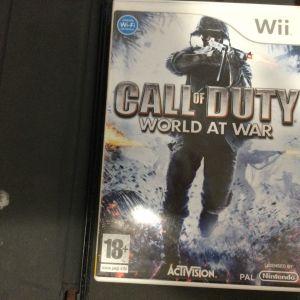 Κασέτα Wii Nintendo WI-Fi connection call of duty world at war