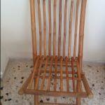 Τραπέζι (teak ξύλο) - 3 καρέκλες (μπαμπού) - εξωτερικού χώρου