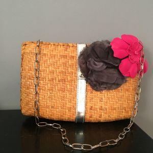 Clutch bag ψάθινη