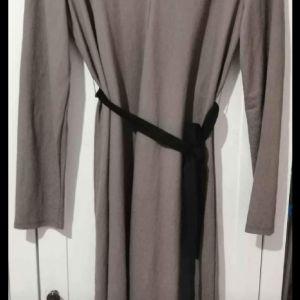Φόρεμα μιντι με ζωνάκι L