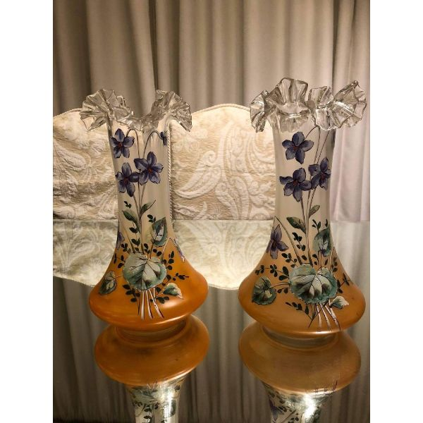spanio antika zevgari vazoun zografismena sto cheri 30 cm ipsos.timi gia ta dio vaza