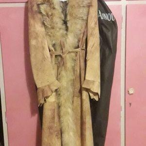 Δερματινο παλτο με γουνα