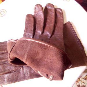 Vintage Real Nappa ανδρικά δερμάτινα γάντια .