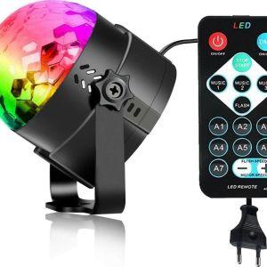 Videomax DJ Lights RGB LED Κρυσταλλική μαγική μπάλα Πολύχρωμη 9W